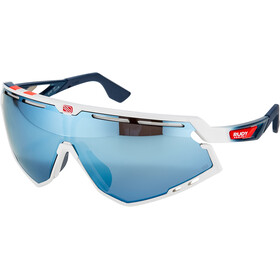 Rudy Project Defender Gafas, white gloss/fade blue/red stripes/white/multilaser ice